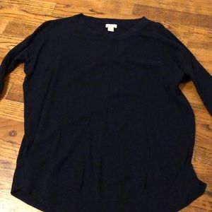 J crew navy sweater